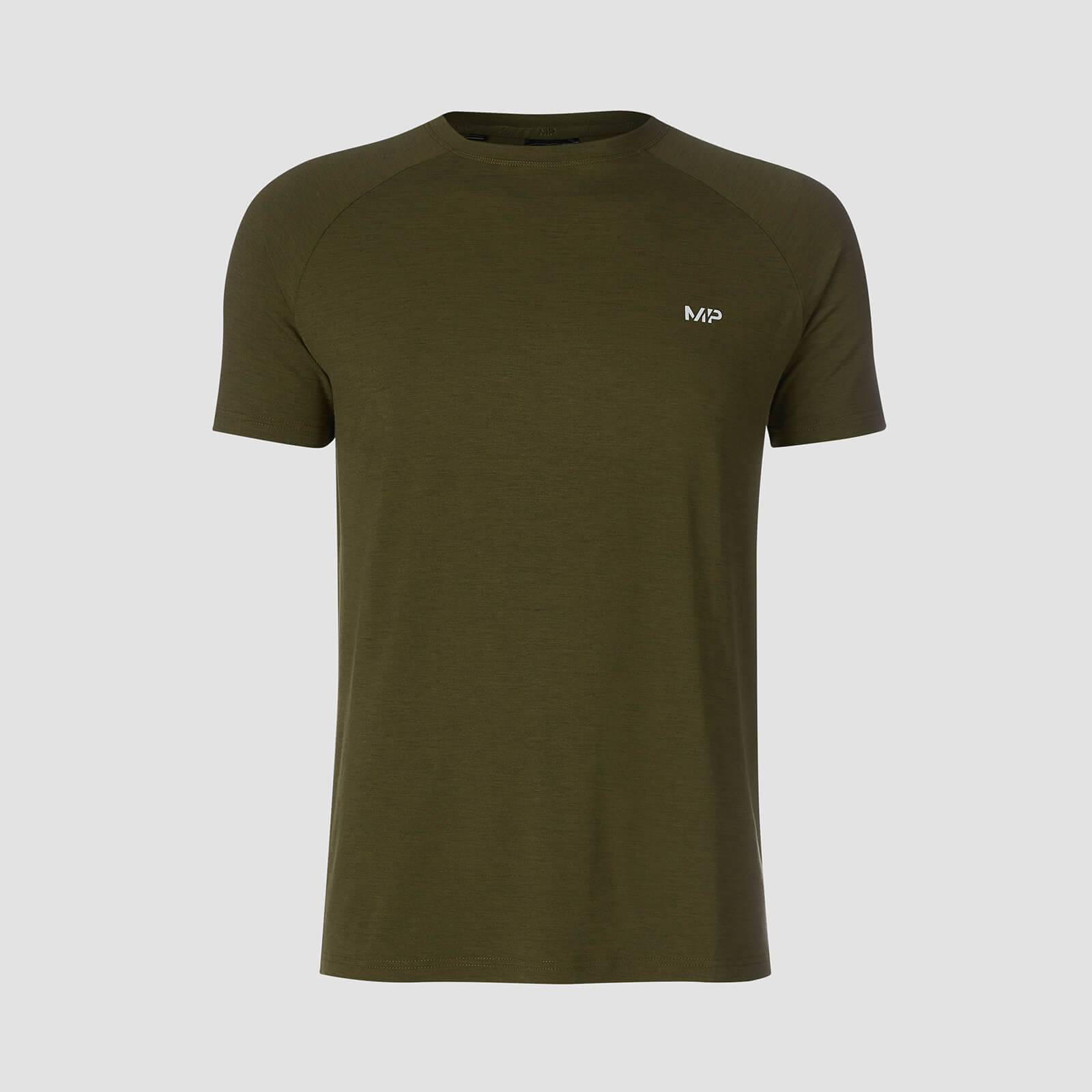 Myprotein T-shirt Performance Short Sleeve MP - Verde militare/Nero - XL