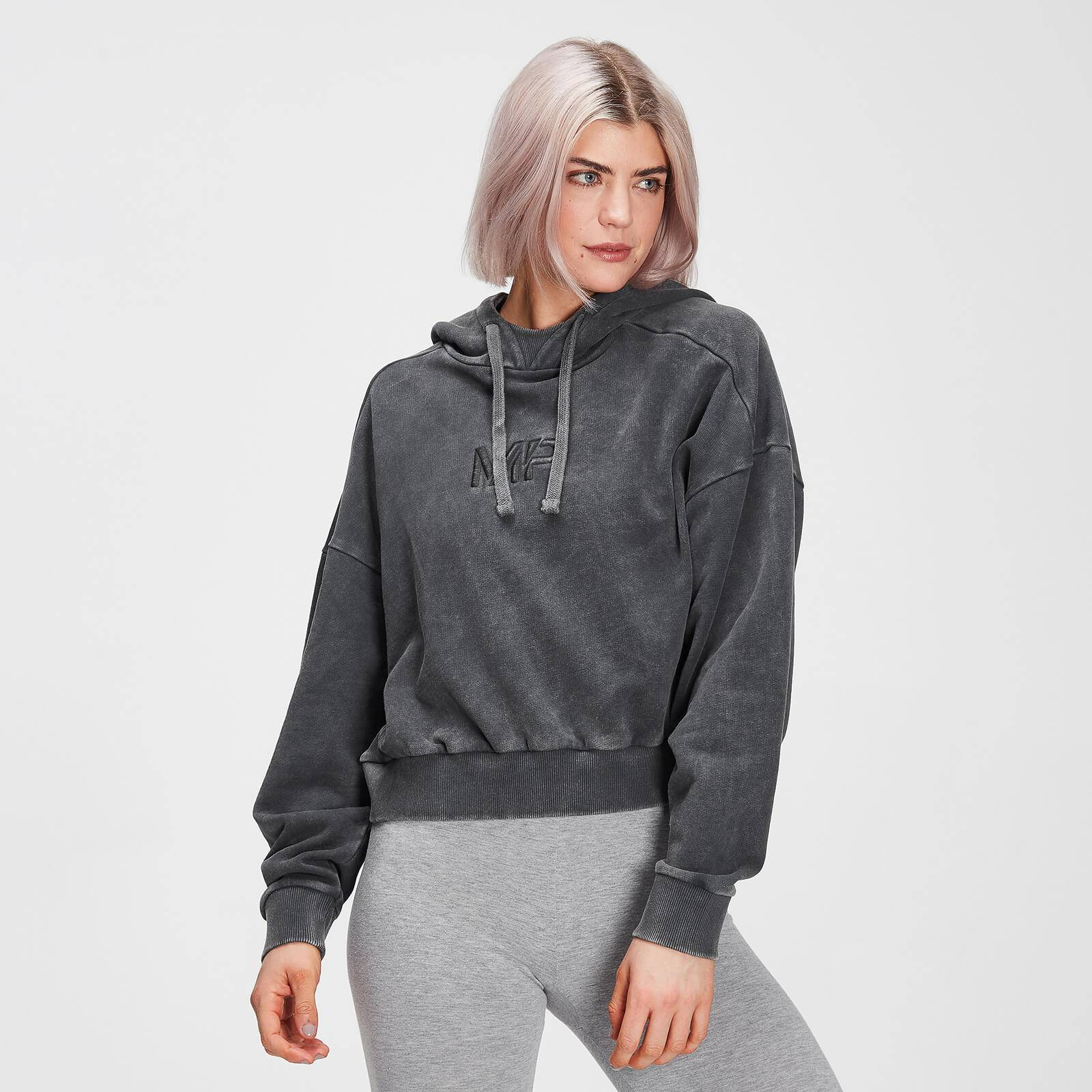 Mp Women's Adapt Hoodie- Carbon Acidwash - XXS