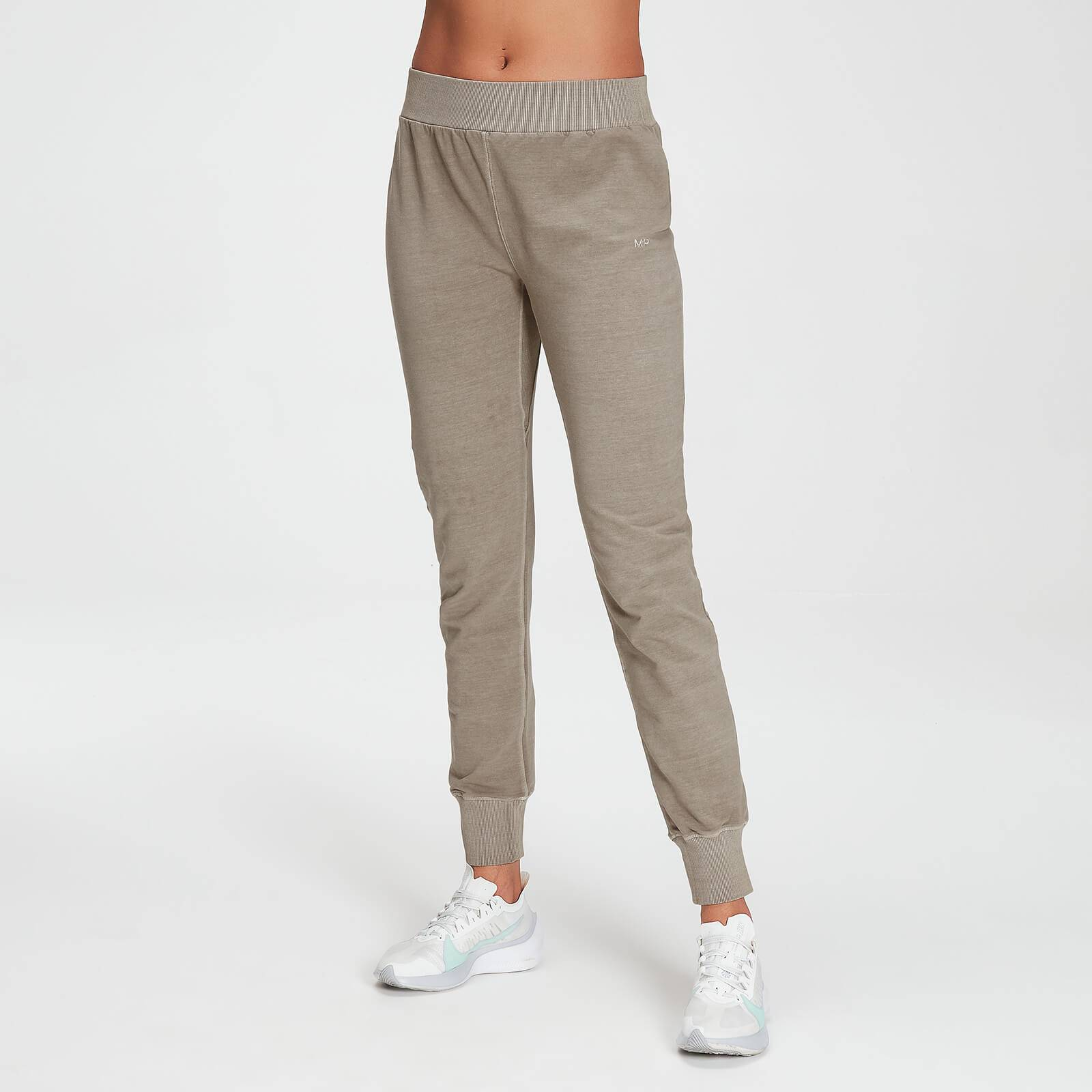 Mp Women's Raw Training Washed Joggers - Taupe - XXL