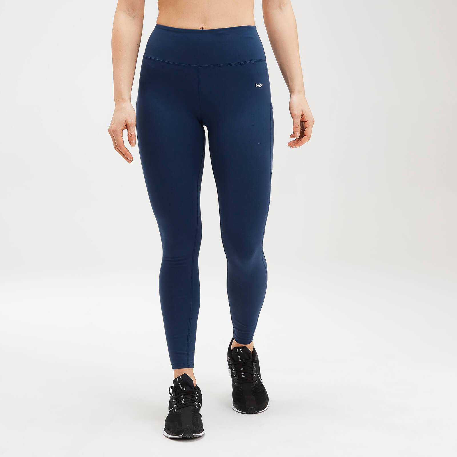 Mp Women's Power Mesh Leggings - Dark Blue - L