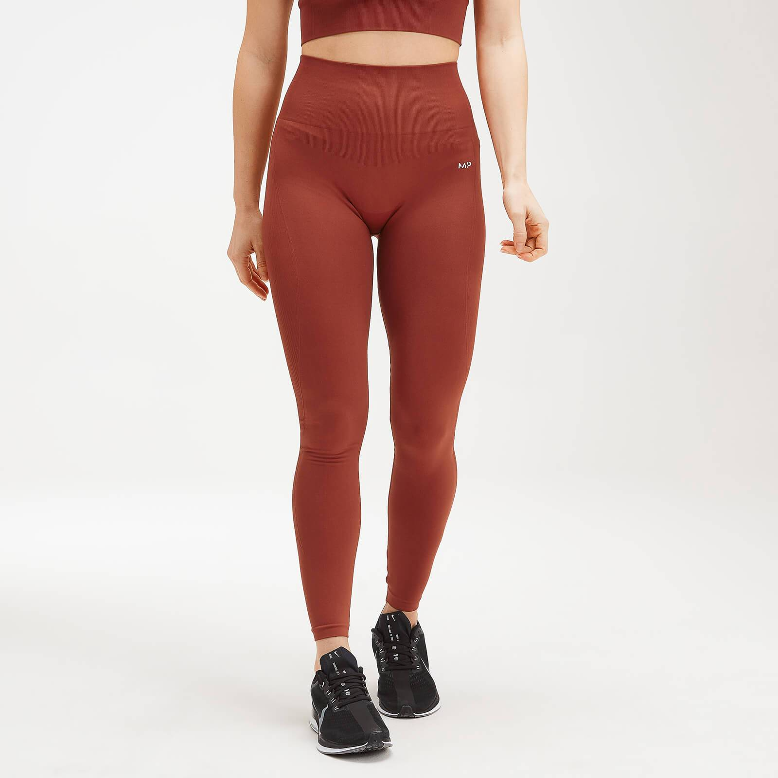 Mp Women's Shape Seamless Ultra Leggings - Burnt Red - L