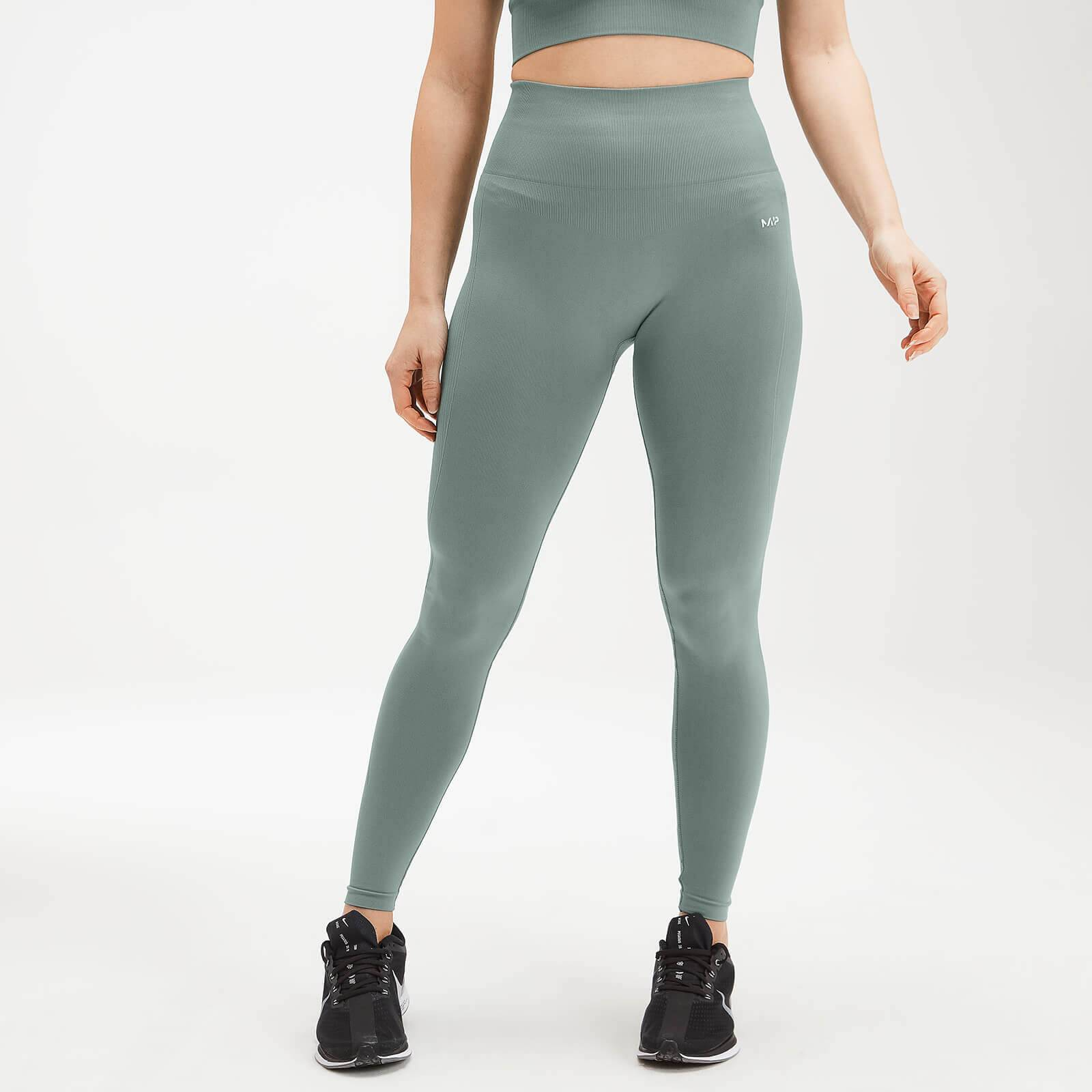 Mp Women's Shape Seamless Ultra Leggings - Washed Green - L
