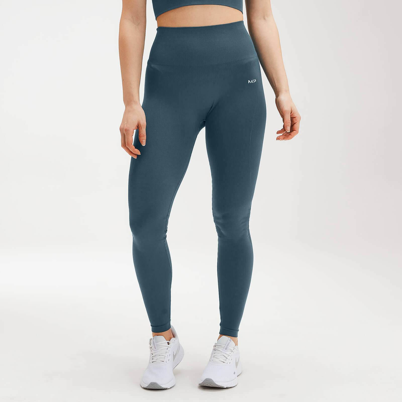 Mp Women's Shape Seamless Ultra Leggings - Deep Sea Blue - M