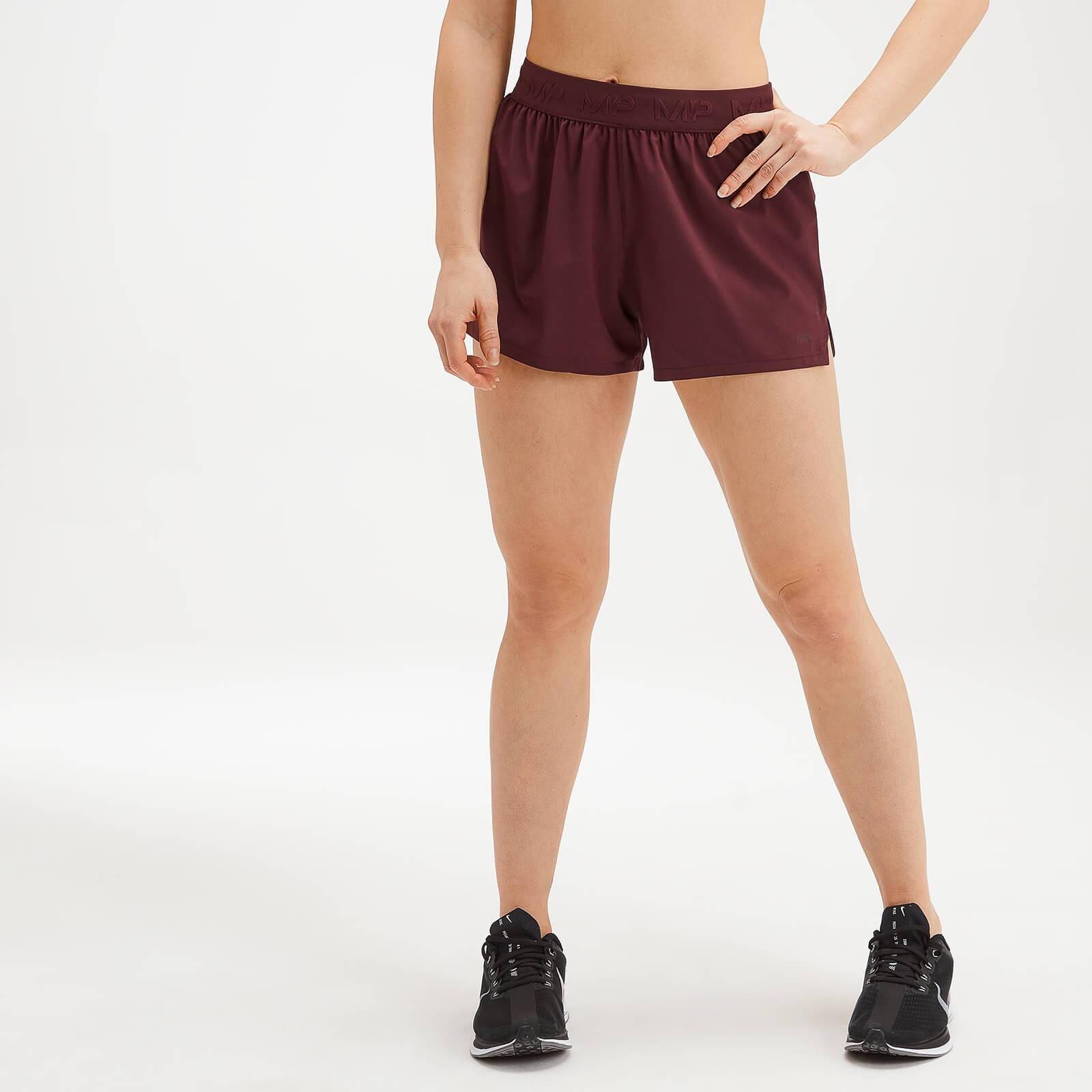 Mp Women's Essentials Training Energy Shorts - Washed Oxblood - L