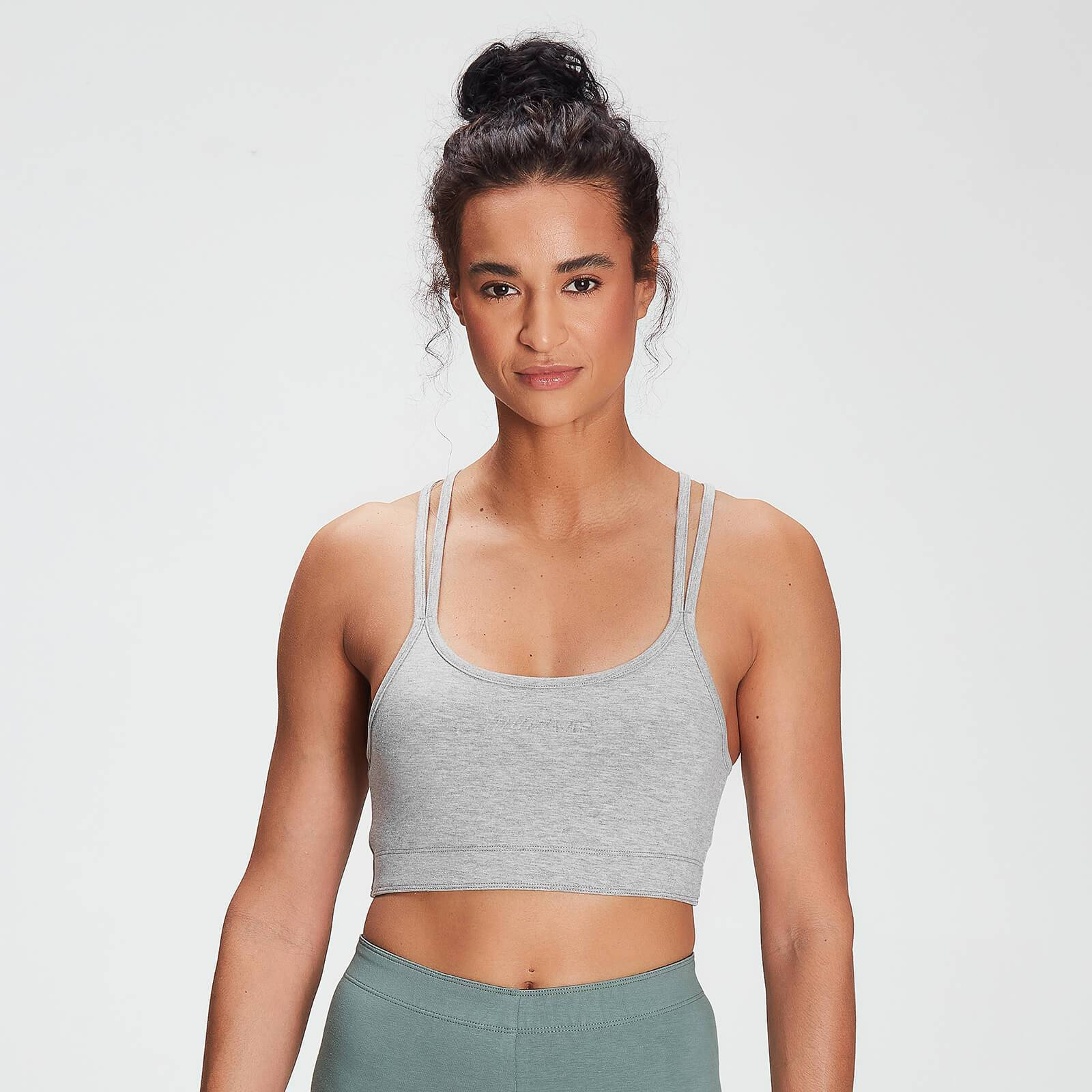 Mp Women's Tonal Graphic Bra - Grey Marl - XS