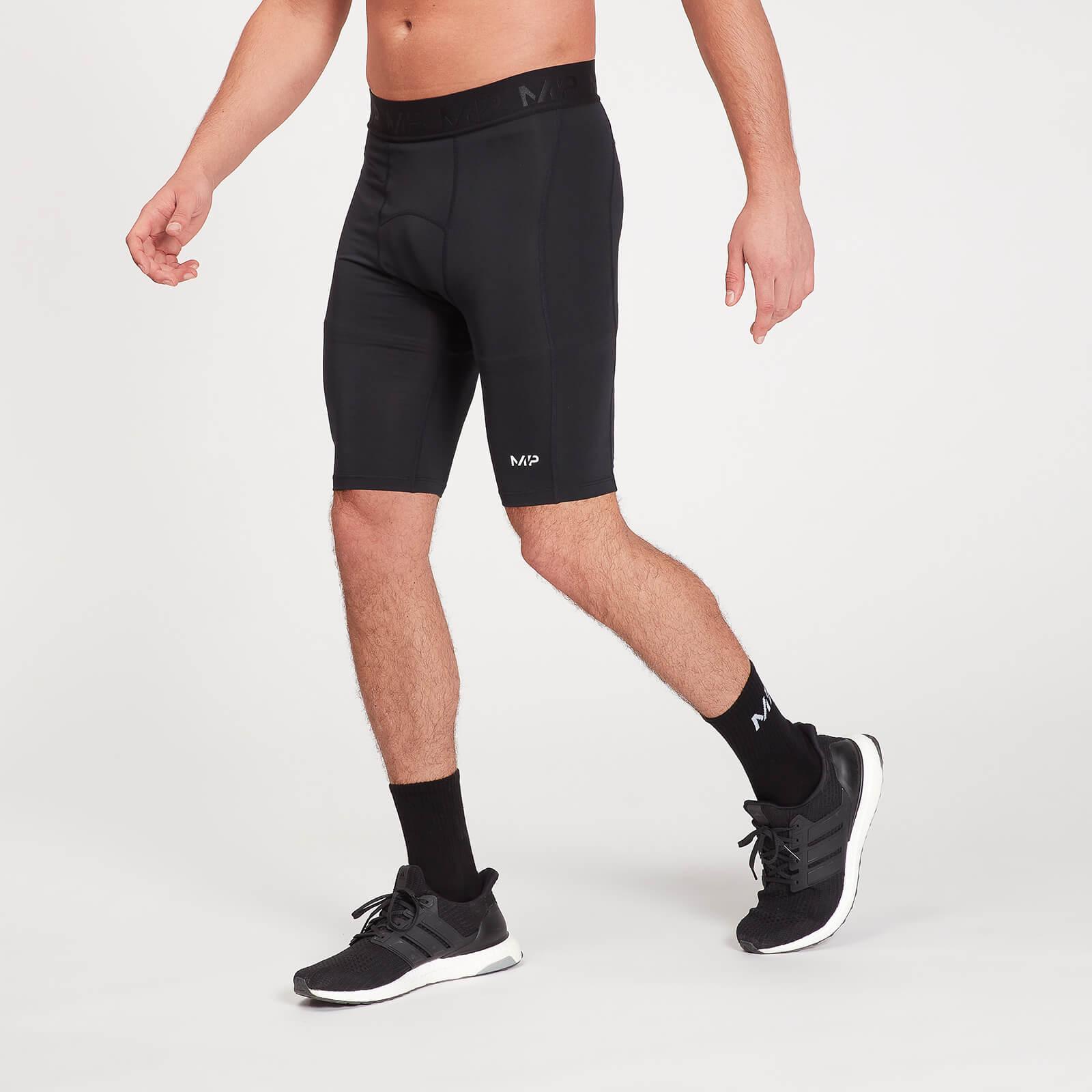 Mp Pantaloncini sportivi attillati Essentials Base da uomo - Neri - XL