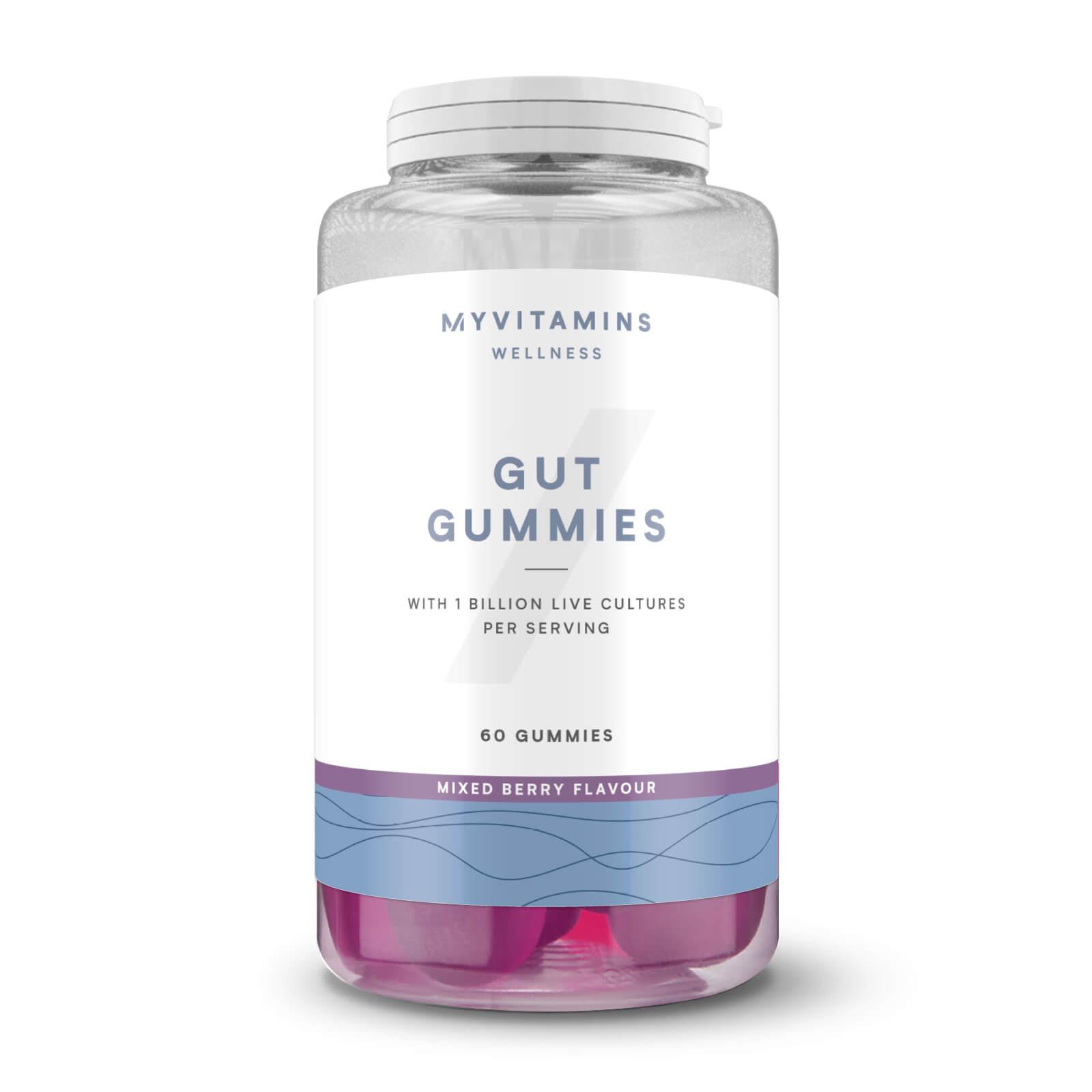 Myvitamins Caramelloe Gommose per la Salute Intestinale - 60servings - Frutti di bosco