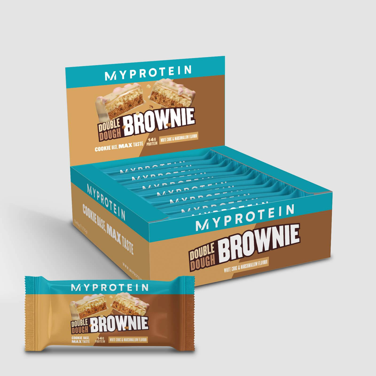 Myprotein Brownie con doppio impasto - 12 x 60g - White Chocolate and Marshmallow