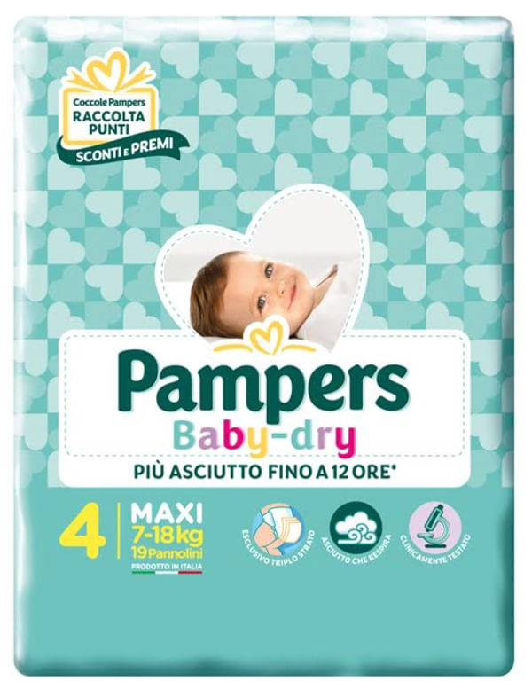 Fater Spa Pampers Bd Downcount Maxi 19pz
