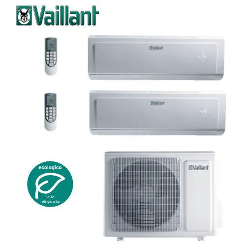 Vaillant Emclimatizzatore Condizionatore Multiplit Vaillant Climavair Plus Vai 8 7000+7000 Btu Gas R32+ Staffe