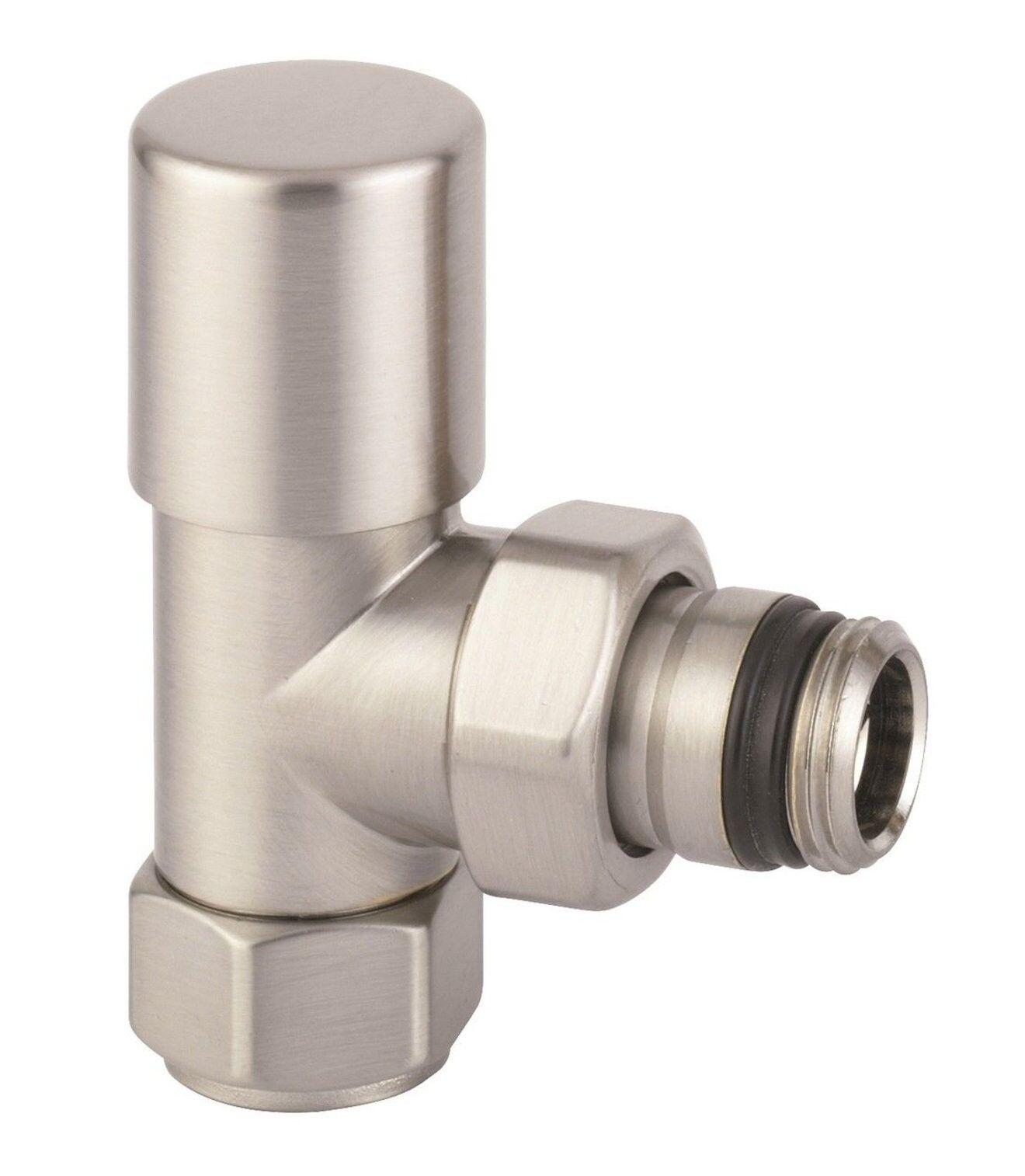 Arteclima valvola a squadra termostatizzabile acciaio spazzolato 308MA acciaio satinato