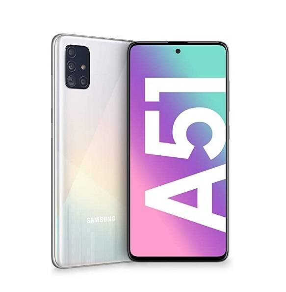 "Samsung Smartphone Samsung Galaxy A51 Sm A515f 128 Gb Dual Sim Octa Core 6.5"" Super Amoled 4g Lte Wifi Bluetooth 4 Fotocamere Refurbished Prism Crush White"