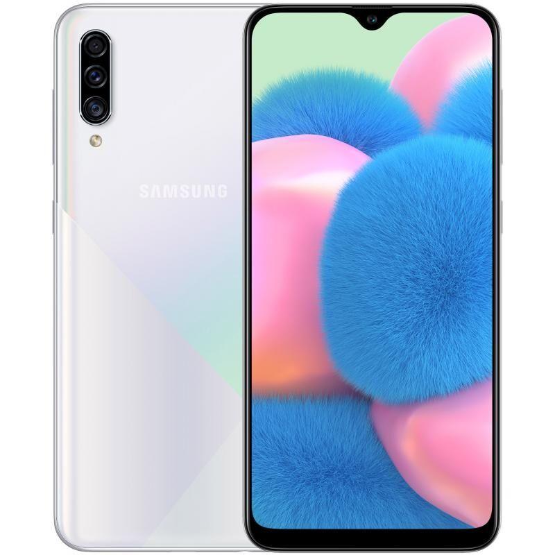 "Samsung Smartphone Samsung Galaxy A30s Sm A307f Dual Sim 128 Gb Octa Core 6.4"" Super Amoled Tripla Fotocamera 25 + 5 + 8 Mp 4g Lte Wifi Bluetooth Refurbished Prism Crush White"