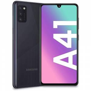 "Samsung Smartphone Samsung Galaxy A41 Sm A415f Dual Sim 64 Gb Octa Core 6.1"" Super Amoled 48 + 8 + 5 Mp 4g Lte Wifi Bluetooth Refurbished Prism Crush Black"