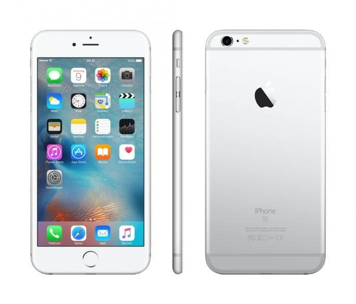 """Apple Ricondizionato Smartphone iphone 6s plus 16 gb 5,5"""" 4g lte chip a9 touch id ios 9 12 mp refurbished argento"""