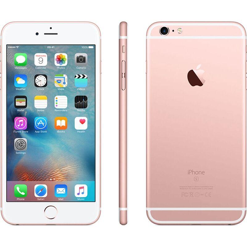 """Apple Ricondizionato Smartphone iphone 6s plus 128 gb 5,5"""" 4g lte chip a9 touch id ios 9 12 mp refurbished oro rosa"""