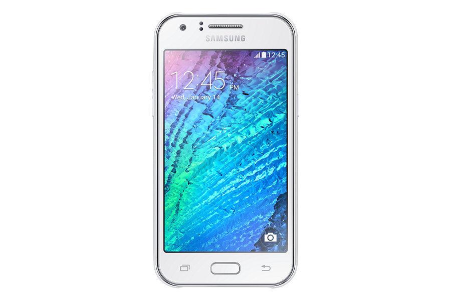 "Samsung Ricondizionato Smartphone samsung galaxy j1 sm j100h display 4.3"" 4 gb dual core 5 mp wifi bluetooth refurbished bianco"