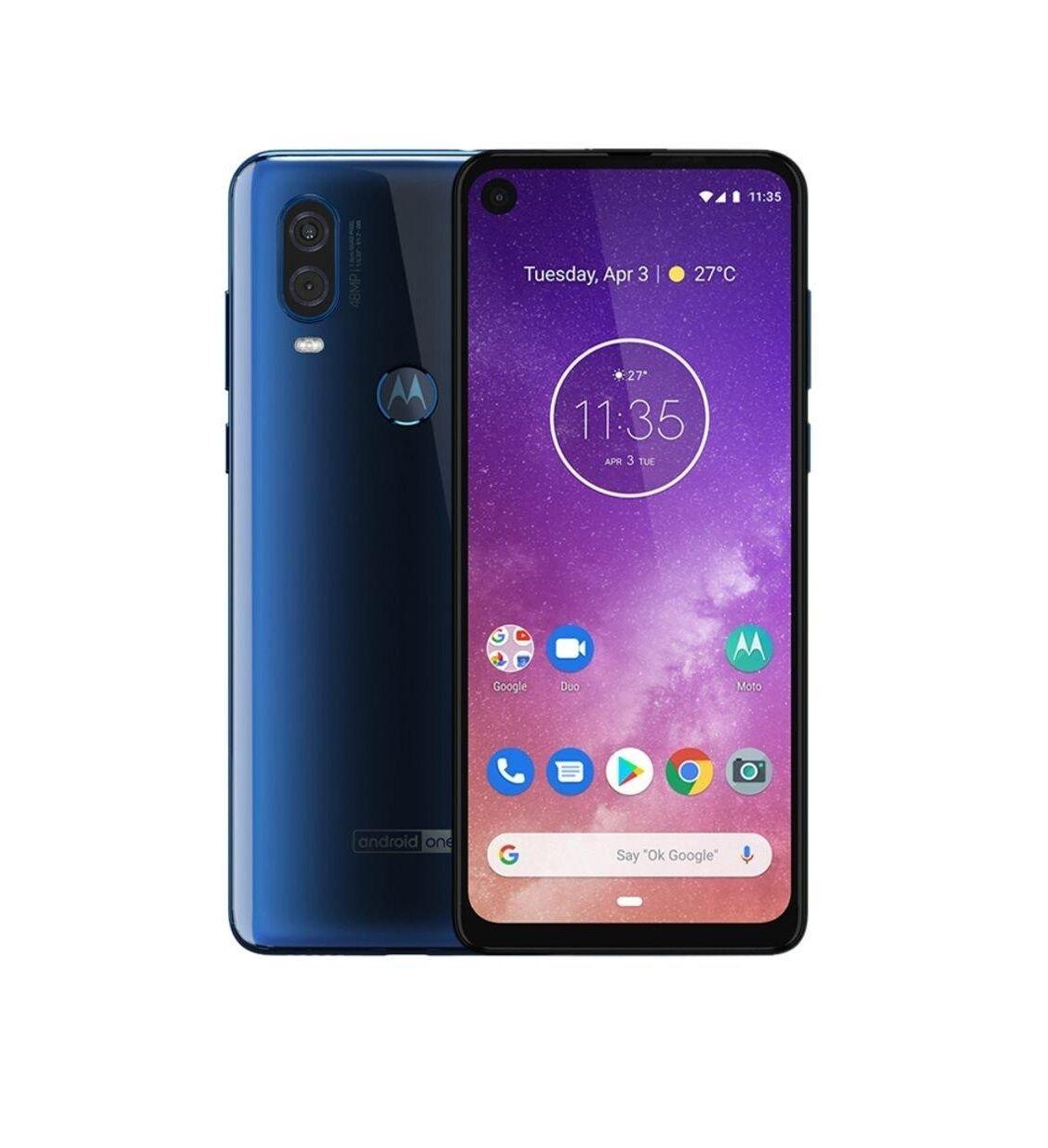 """Motorola Ricondizionato Smartphone one vision xt1970 3 128 gb dual sim 6.3"""" 4g lte 48 mp octa core refurbished sapphire gradient"""