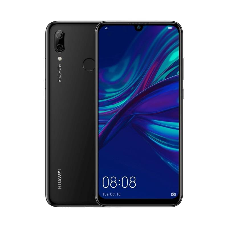 """Huawei Ricondizionato Smartphone p smart 2019 pot lx1 dual sim 64 gb 6.21"""" 4g lte doppia fotocamera refurbished midnight black / nero"""