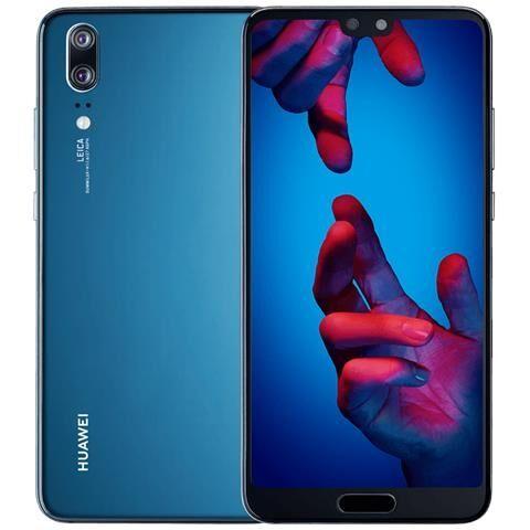 """Huawei Smartphone Huawei P20 Eml L29 128 Gb 5.8"""" Dual Sim 4g Lte 20 Mp Octa Core Refurbished Blu"""