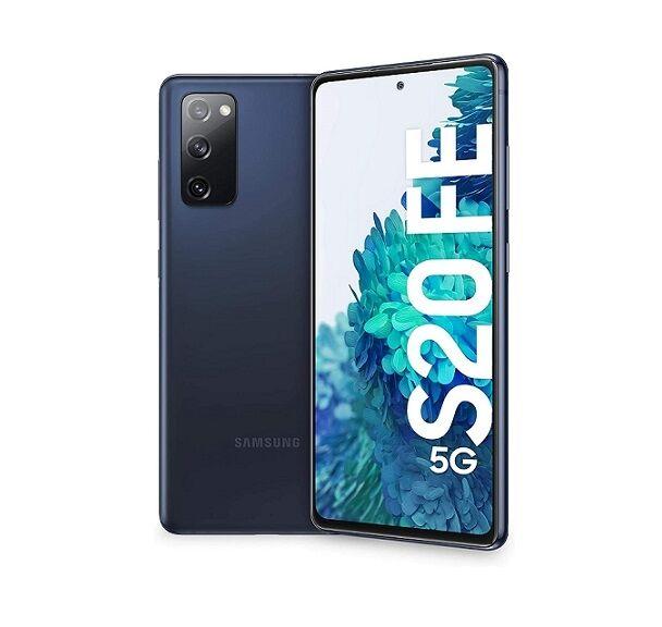 "Samsung Ricondizionato Smartphone samsung galaxy s20 fe 5g sm g781b 128 gb dual sim 6.5"" tripla fotocamera octa core refurbished cloud navy / b"