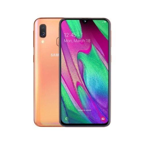 "Samsung Ricondizionato Smartphone samsung galaxy a40 sm a405f dual sim 64 gb octa core 5.9"" super amoled 16 + 5 mp 4g lte wifi bluetooth refurb"