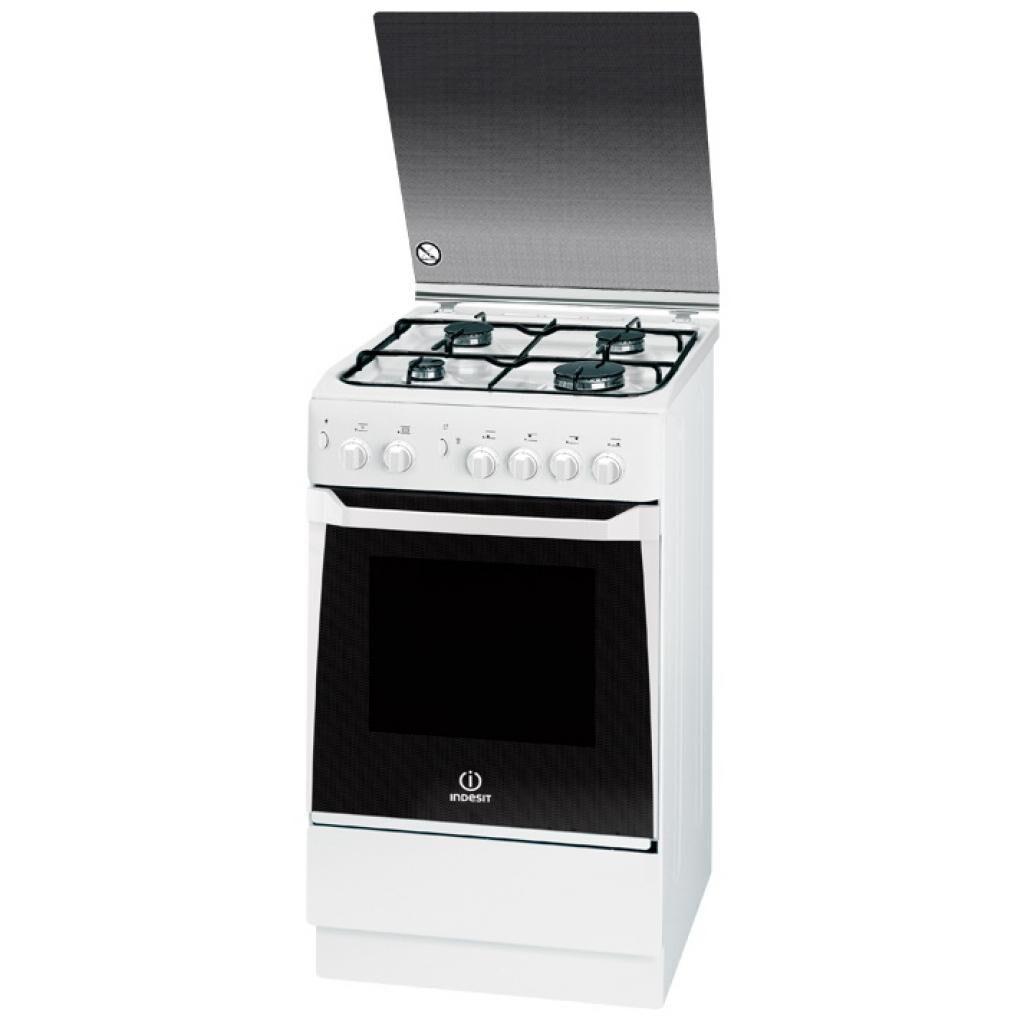 Indesit Cucina Indesit Kn1g21swua / Kn1g20s(W)/i 50 Cm 4 Fuochi Forno A Gas 50 L Grill Libera Installazione Bianco Refurbished Classe A