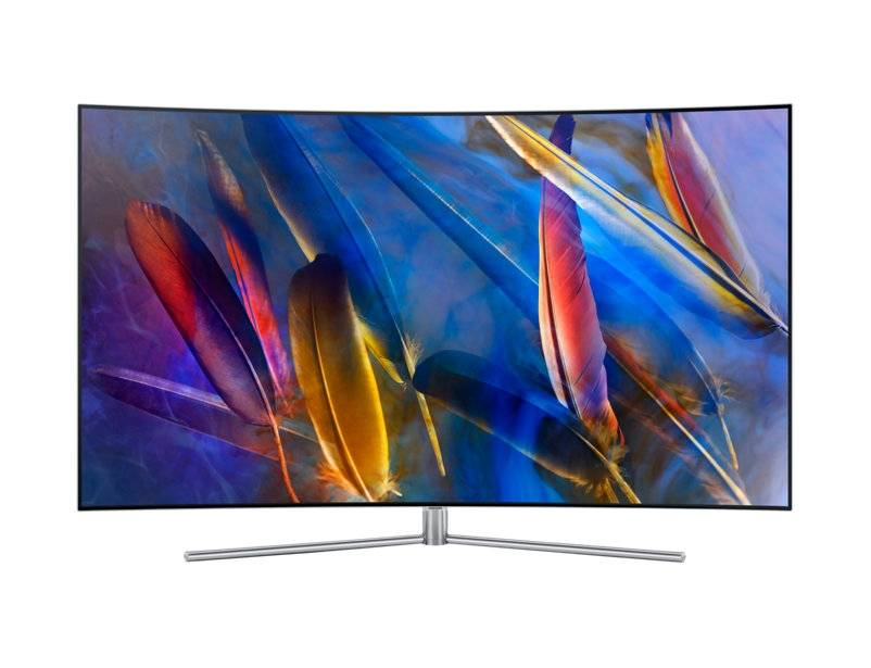 "Samsung Ricondizionato Tv 55"" samsung qe55q7camt qled curvo serie 7 q7c 4k uhd smart wifi 3200 pqi usb hdmi argento"