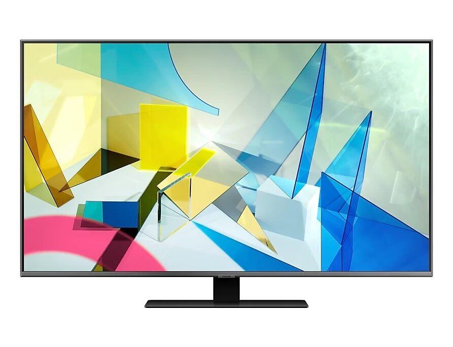"Samsung Ricondizionato Tv 55"" samsung qe55q80tat qled q80t serie 8 2020 4k uhd smart wifi 3800 pqi hdmi usb refurbished carbon silver"