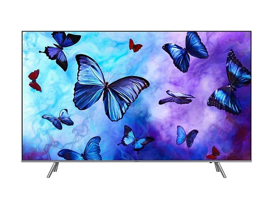 samsung tv 55 samsung qe55q6fnat qled serie 6 q6fn 2018 4k uhd smart wifi 2800 pqi usb hdmi silver / inox