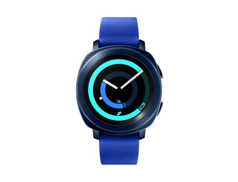"""Samsung Ricondizionato Smartwatch samsung galaxy gear sport sm r600 1.2"""" super amoled 4 gb 1 ghz dual core bluetooth refurbished blu"""