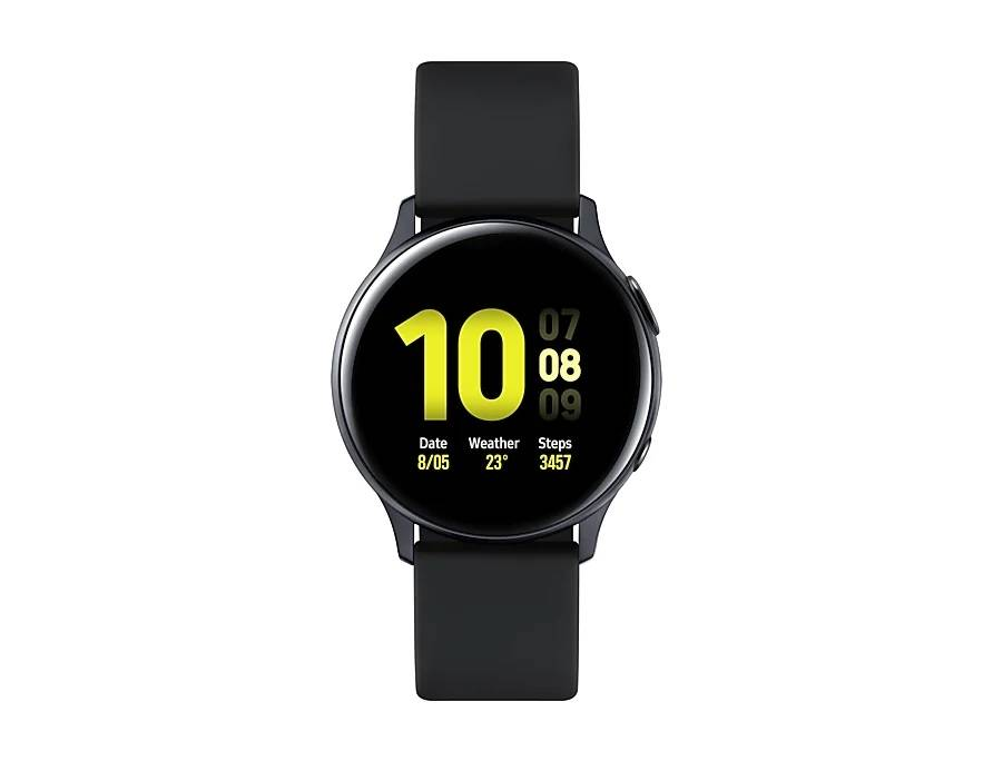 samsung smartwatch samsung galaxy watch active2 40 mm aluminium sm r830 1.2 super amoled 4 gb dual core wifi bluetooth refurbished aqua black / nero