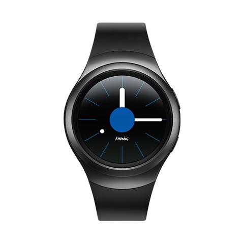Samsung Smartwatch Samsung Galaxy Gear S2 Sm R720 1.2 Full Circular Super Amoled 4 Gb Wifi Nfc Bluetooth Refurbished Dark Gray