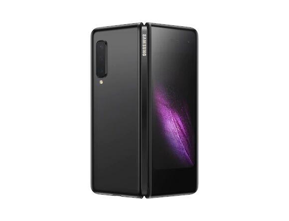 "Samsung Smartphone Samsung Galaxy Fold Sm F900f 512 Gb Dual Sim 7.3"" + 4.6"" Super Amoled 4g Lte Wifi Octa Core Sei Fotocamere Professionali Refurbished Cosmos Black / Nero"