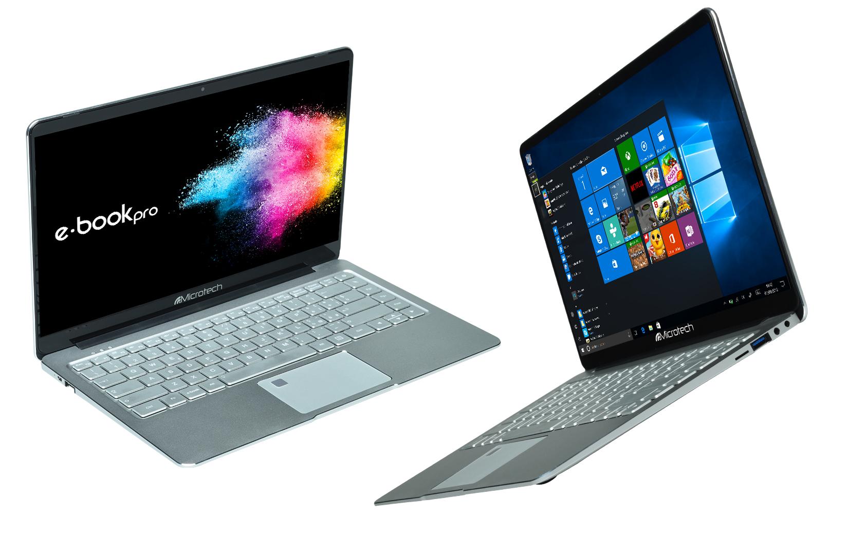 """Microtech E-Book Pro / Ultrabook Microtech Eb14ai32 14.1"""" Intel Celeron Quad Core N3450 2,2 Ghz 32 Gb Ssd 6 Gb Lpddr3 Intel Hd Graphics 500 Tastiera Qwerty Windows 10 Home Grigio Alluminio Prodotto Italiano"""