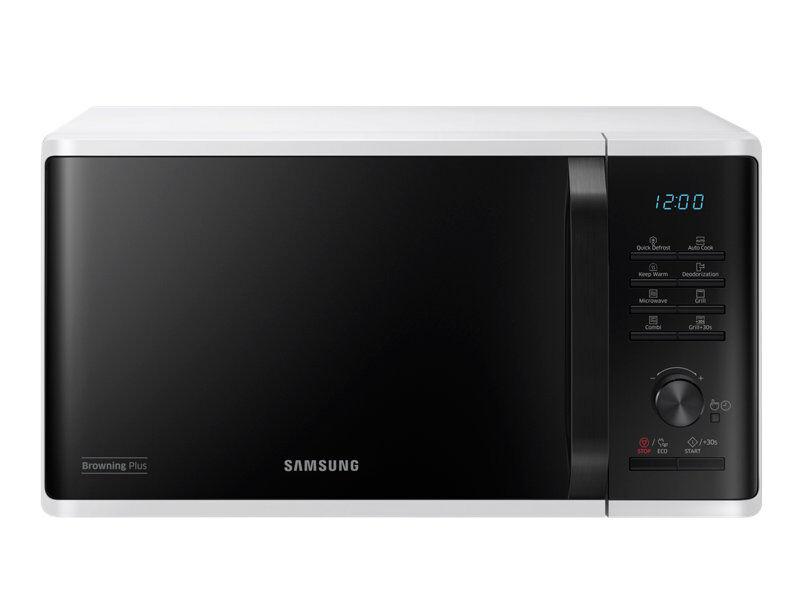 Samsung Forno Microonde Samsung Mg23k3515aw Grill 23 L 800 W 6 Livelli Di Potenza Eco Mode Display Led Libera Installazione Refurbished Bianco
