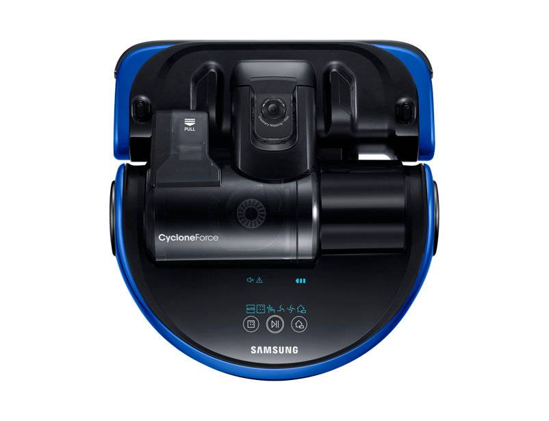 Samsung Robot Aspirapolvere Samsung Powerbot Vr20k9000ub / Vr9000 Essential Cyclone Force Display Led Refurbished Nero Blu