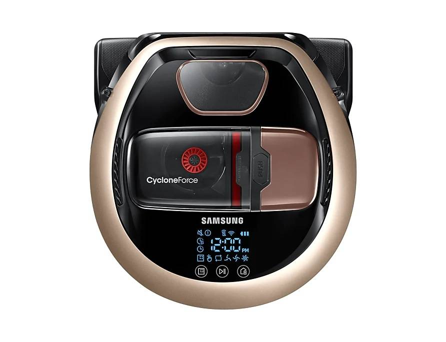 Samsung Robot Aspirapolvere Samsung Powerbot Vr2dm7060wd / Vr20m706twd Vr7000 130 W Cyclone Force Wifi Display Led Refurbished Gold