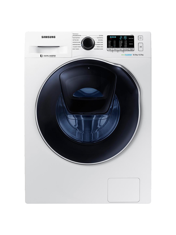 samsung lavasciuga (lavatrice / asciugatrice / lava e asciuga) samsung wd80k5b10ow addwash 8+6 kg 1400 giri carico frontale 14 programmi ecolavaggio digital inverter refurbished libera installazione