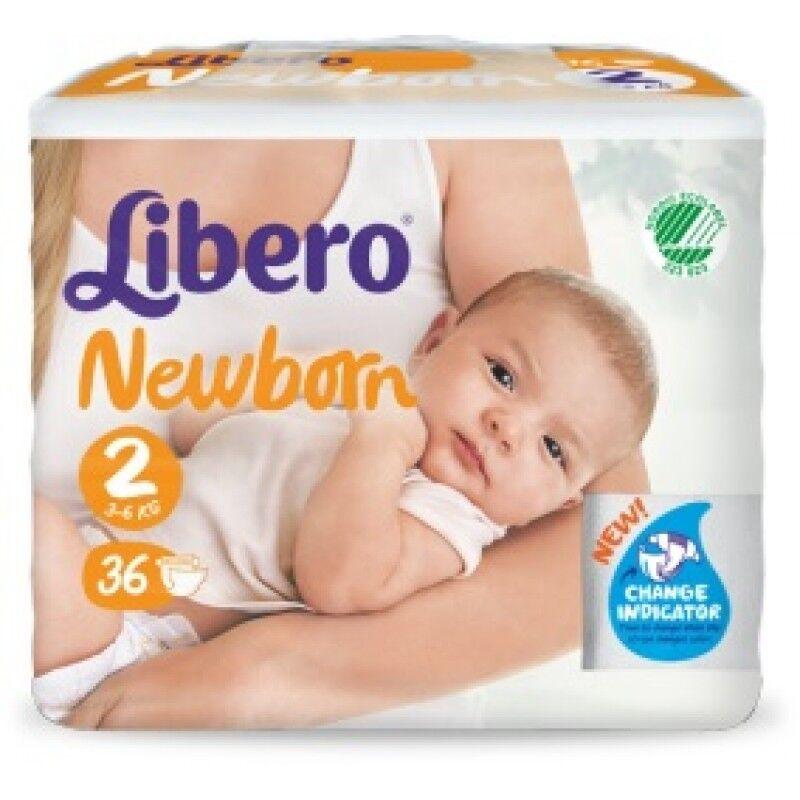 Essity Italy Spa Libero Newborn Pannolino Per Bambino Taglia 2 6x36 Pezzi