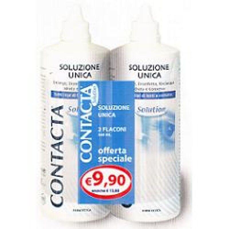 sanifarma(contacta) soluzione per lenti a contatto contacta 2 pezzi 360 ml