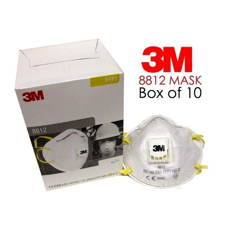 10 X 3m™ Mascherina 8812, Ffp 1, Con Valvola - 3 M Respiratore - 10 Pezzi Marchio Ce 0086 (En 149:2001 + A1:2009 Ffp1 Nr D)