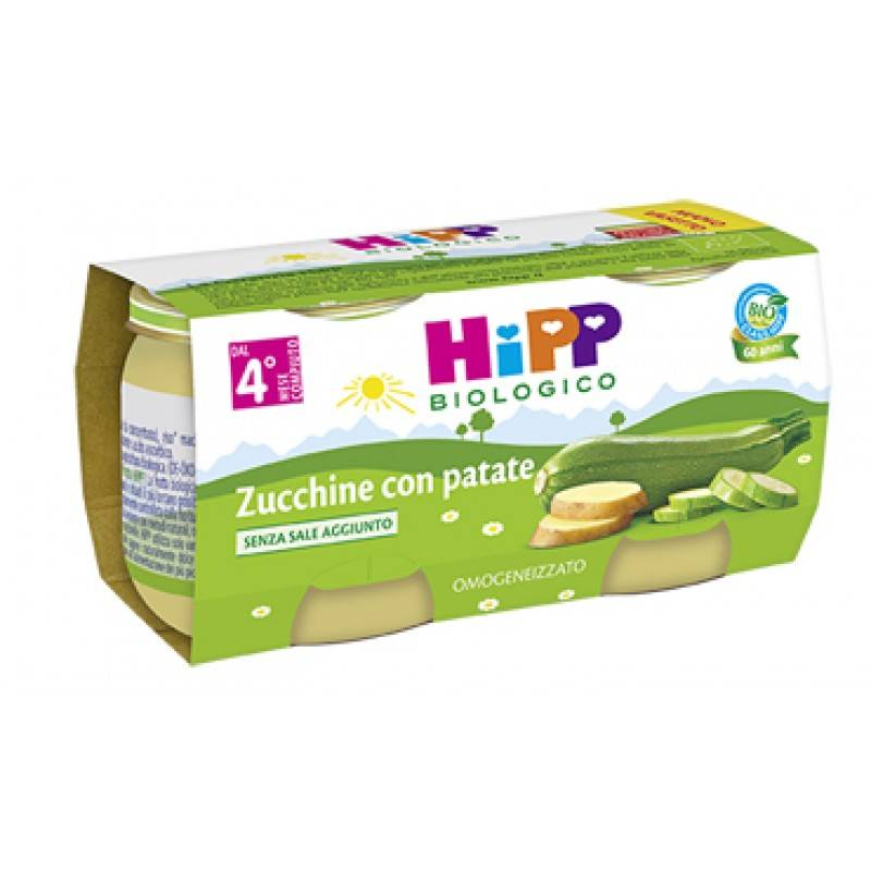 hipp italia srl hipp bio omogeneizzato zucchine patate 80 g 2 pezzi