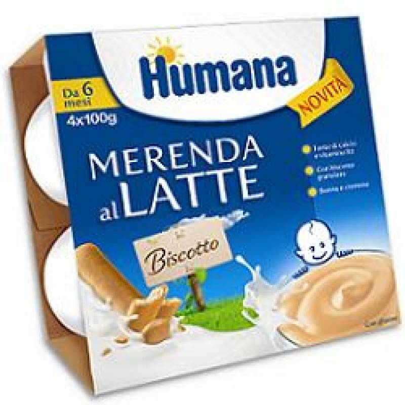 humana italia spa humana merenda gusto biscotto 4 x 100 g