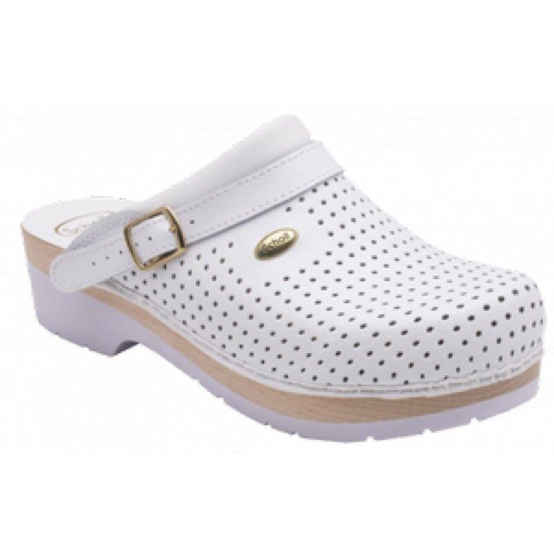 Dr.Scholl'S Div.Footwear Clogs Super Comfort C/cinturino Bianco 42