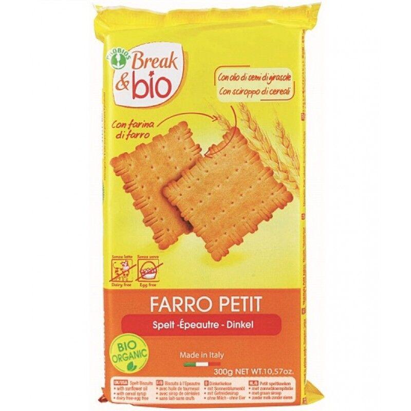 Probios Srl Break & Bio Biscotti Farro Petit 100% 300 G Senza Uova