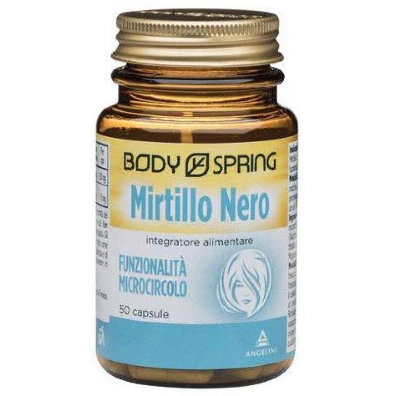 angelini spa body spring integratore alimentare mirtillo nero 50 capsule