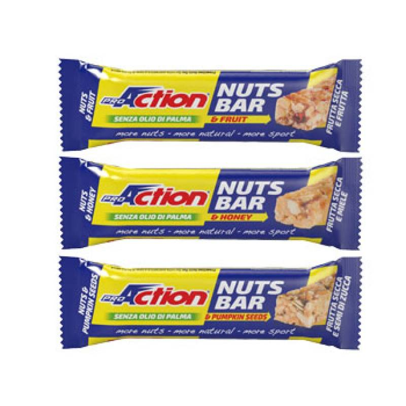 proaction srl proaction nuts bar miele 30g