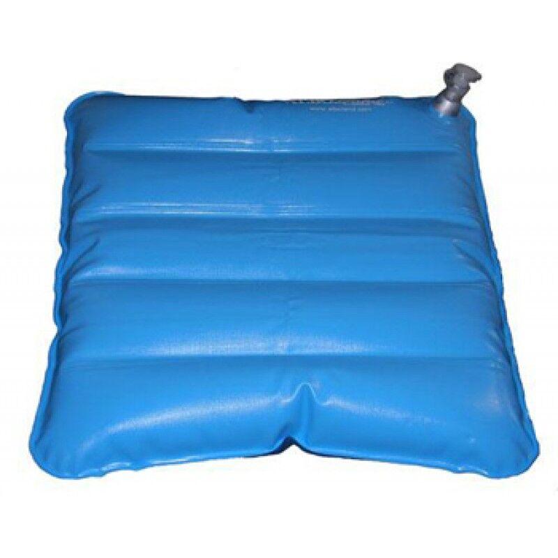 farmacare srl cuscino antidecubito ad aria/acqua dimensioni 41x41cm, applicabile su sedie da comodo o su carrozzelle. camera d'aria in pvc atossico elettrosaldato, patta antiscivolo in pvc