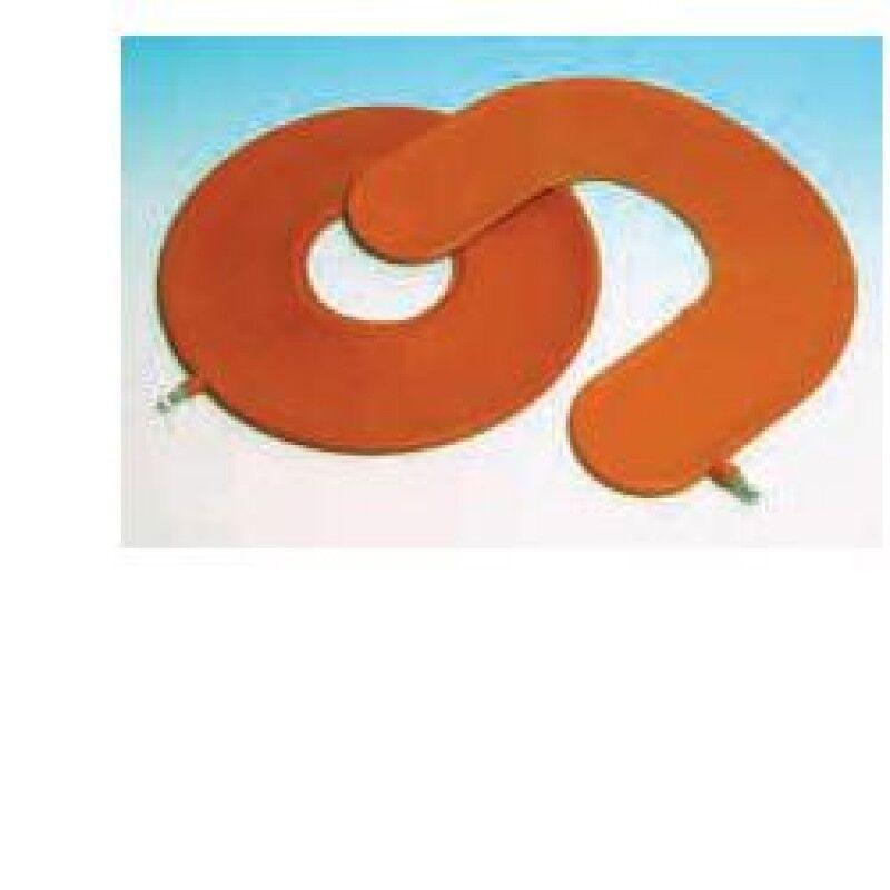 farmac-zabban spa cuscino antidecubito pneumatico in gomma rossa. larghezza della ciambella 45cm